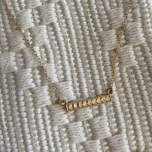 Anna Beck Medium Gold Bar Necklace